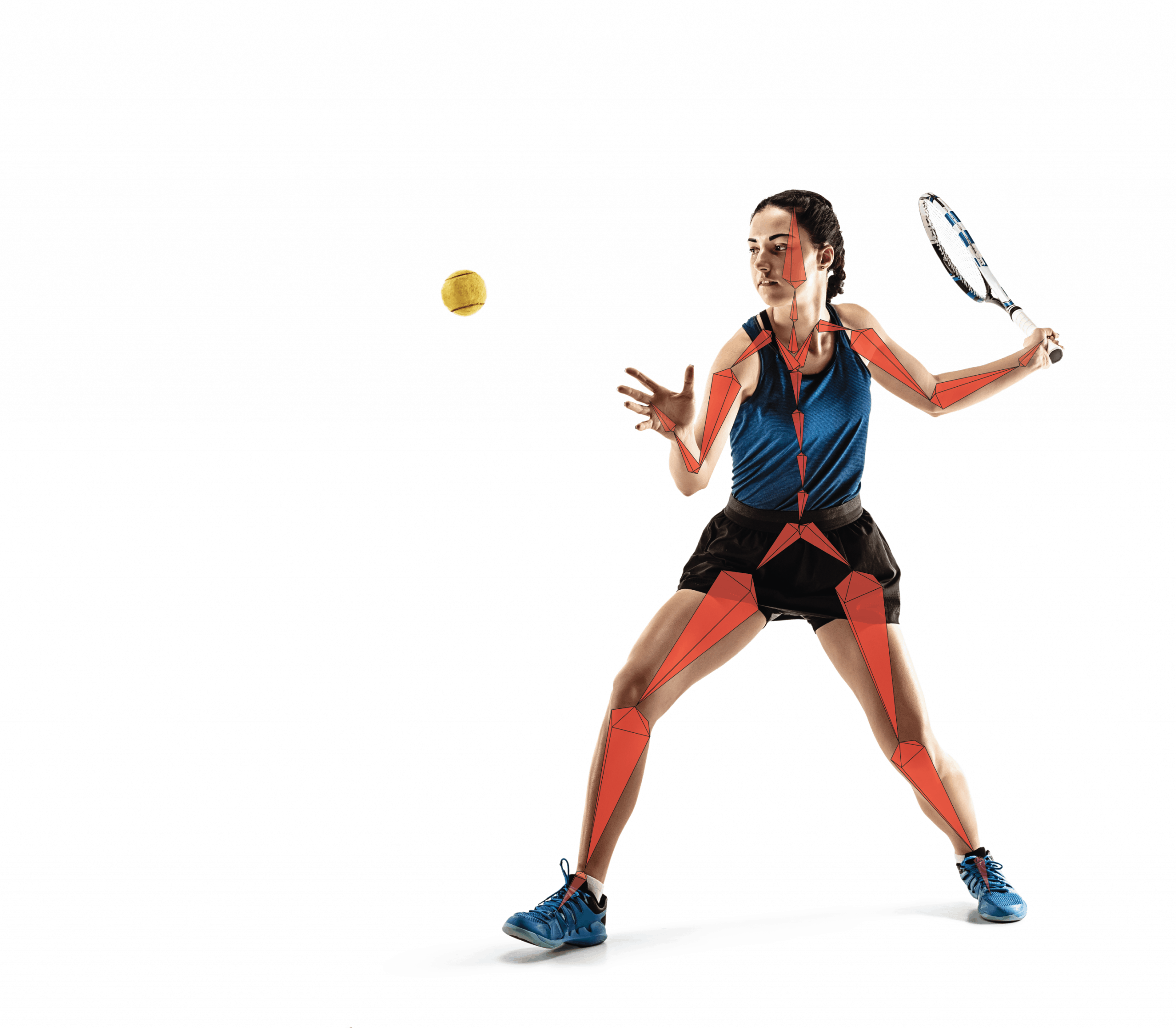 tennis player motion capture skeleton